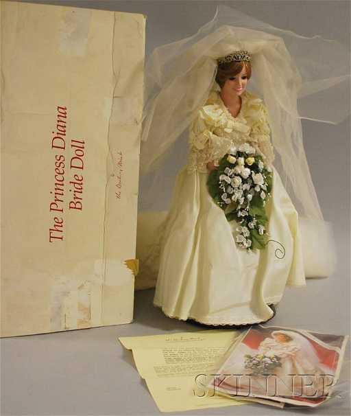 151: Danbury Mint Princess Diana Bride Doll in Original