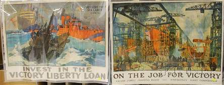316: Three WWI Lithograph Posters, L.A. Shafer, They Ke