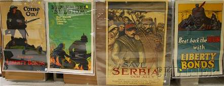 337 Four WWI Lithograph Posters Theophile A Steinlen
