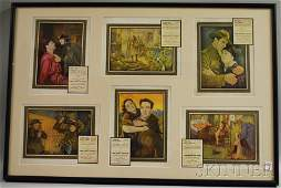 438: Three Framed Show Business Autographs and a Framed