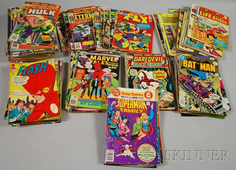 503: Approximately 150 Silver and Bronze Age Comics, Ma