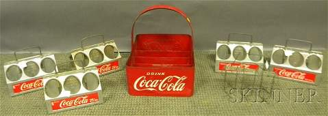 616 Seven CocaCola Metal and Aluminum SixPack and Bo