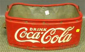 Coca-Cola Painted Metal Vendor's Bottle Carrier, c