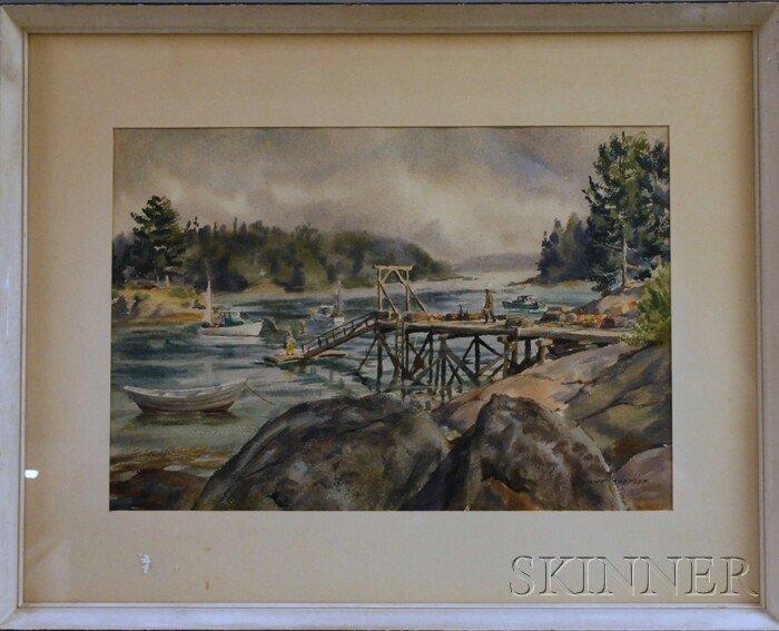 718: Dwight Clark Shepler (American, 1905-1974) Fog in