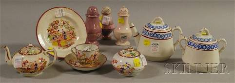 1288: Group of Ceramic Mostly Teaware, a five-piece Eng