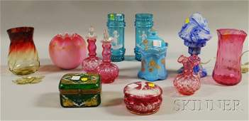 1345: Twelve Pieces of Victorian and Other Art Glass, i