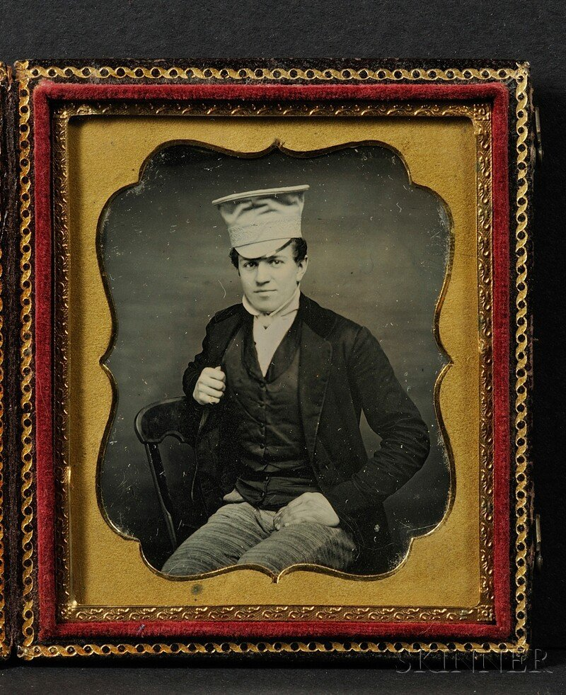 5: Sixth Plate Daguerreotype of a Dapper Young Man, in