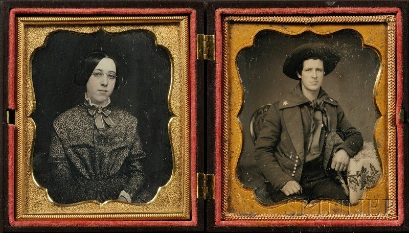 6: Two Sixth Plate Daguerreotype Portraits of a Young M