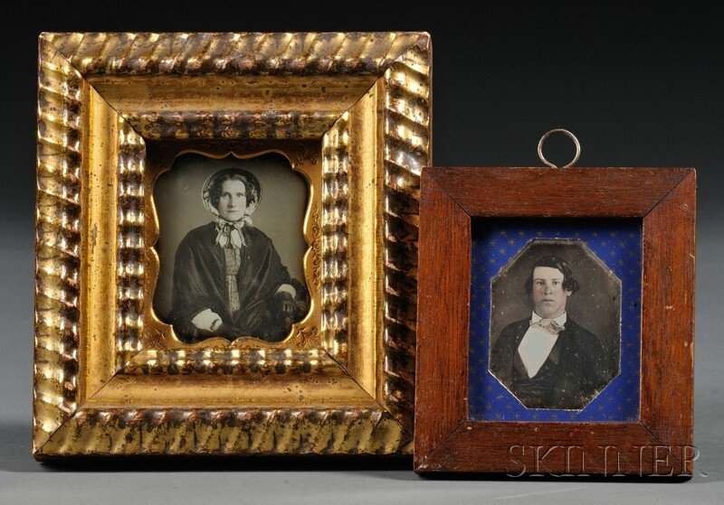 10: Two Framed Sixth Plate Daguerreotype Portraits of a