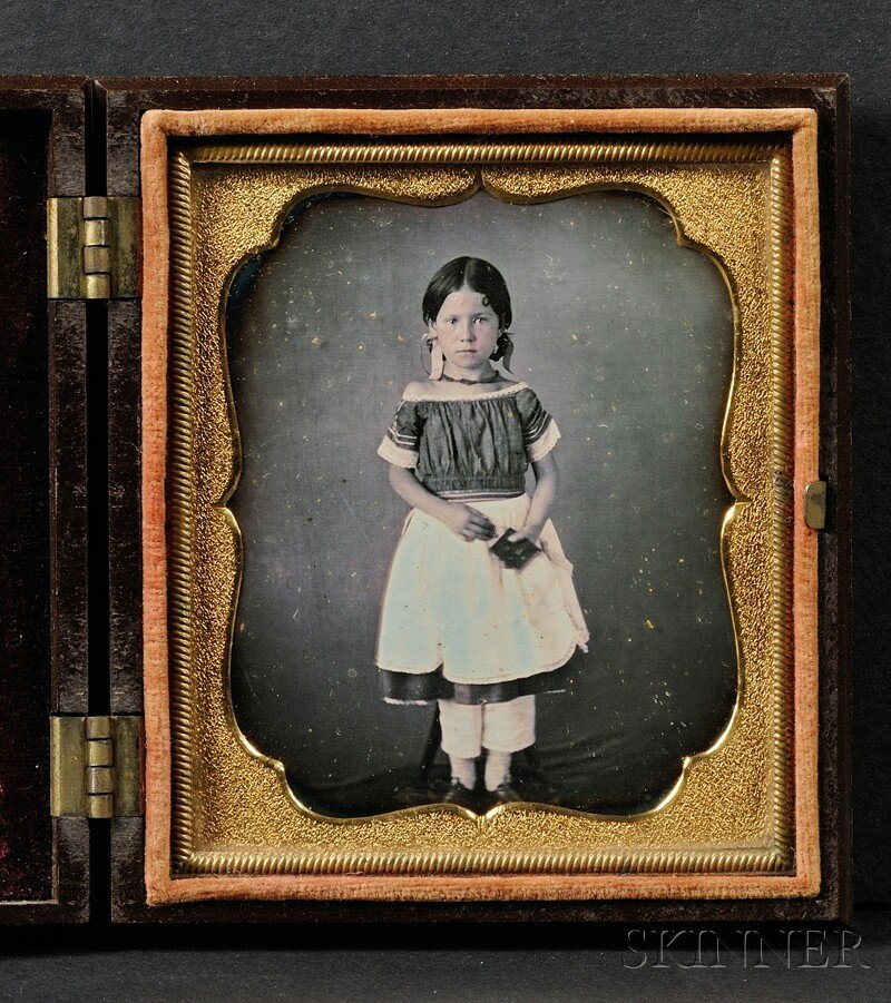 15: Sixth Plate Daguerreotype Portrait of a Young Girl