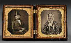 97: Two Sixth Plate Daguerreotype Portraits of a Man We