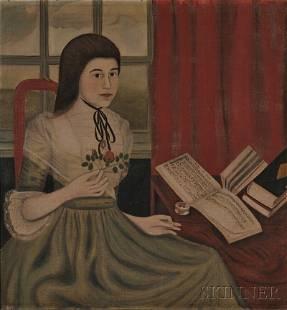 293: American School, 18th Century Portrait of Abigail