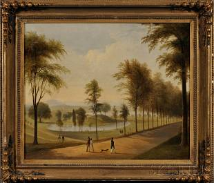 337: American School, 19th Century Lot of Two Works: Th