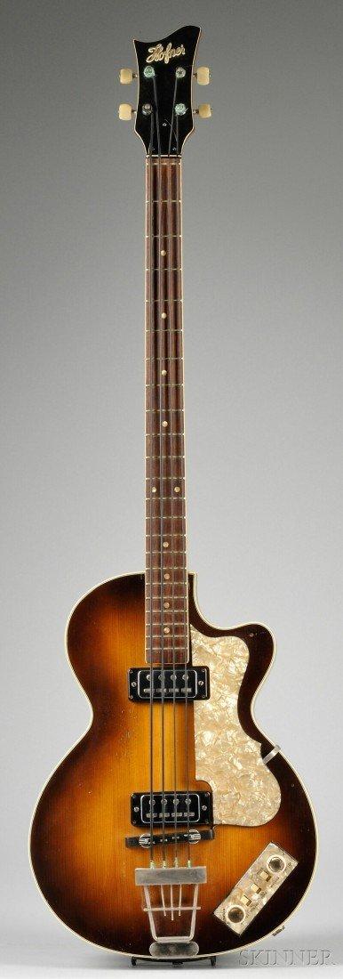 3: German Electric Bass Guitar, Karl Hofner Company, Sc