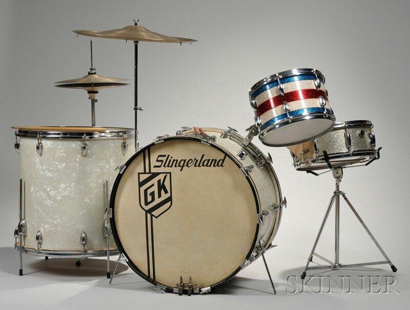 21: Gene Krupa (1909-1973) Slingerland Drum Set, Avedis