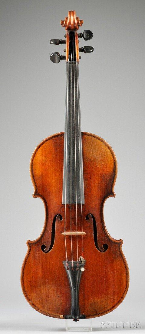 22: Markneukirchen Violin, Paul Knorr, c. 1930, bearing