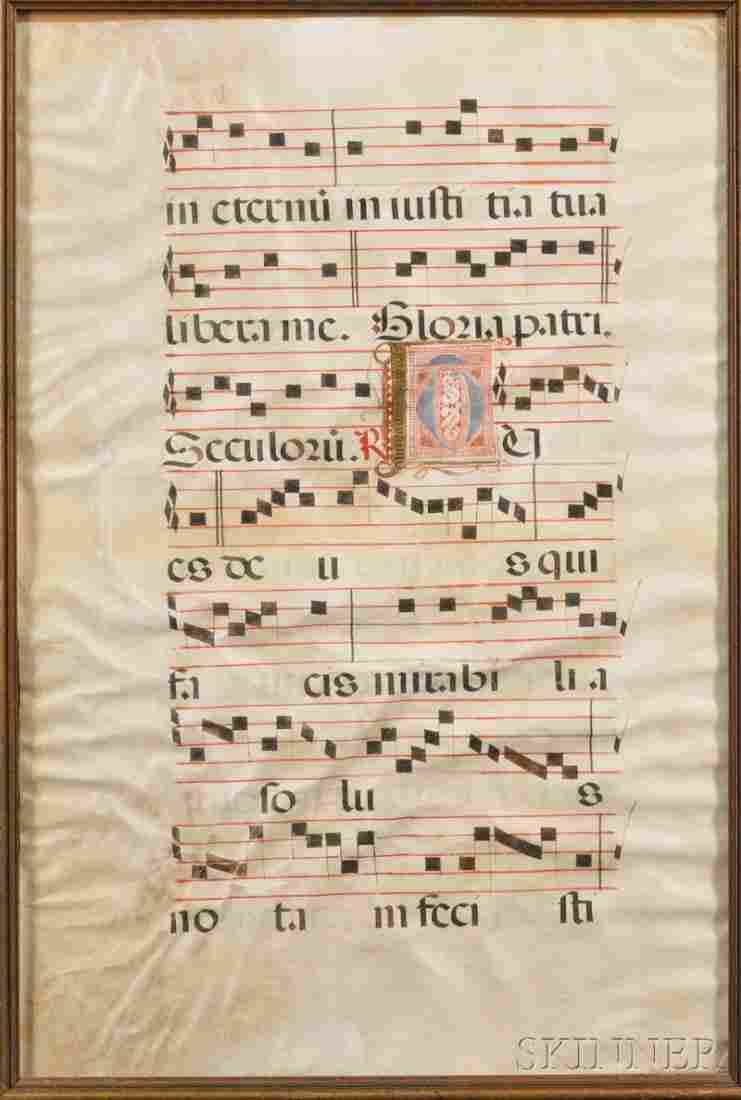 477: (Illuminated Manuscript Antiphonal Leaf), Spanish,