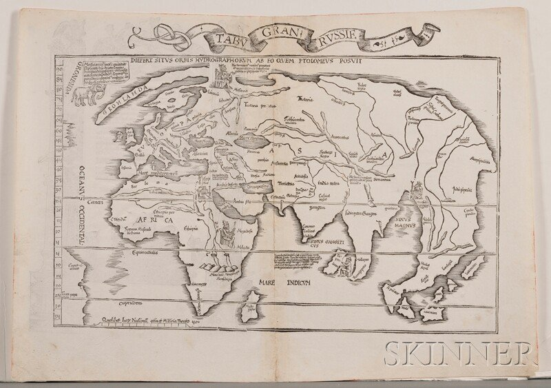 842: (Maps and Charts, World Projection), Waldseemuelle