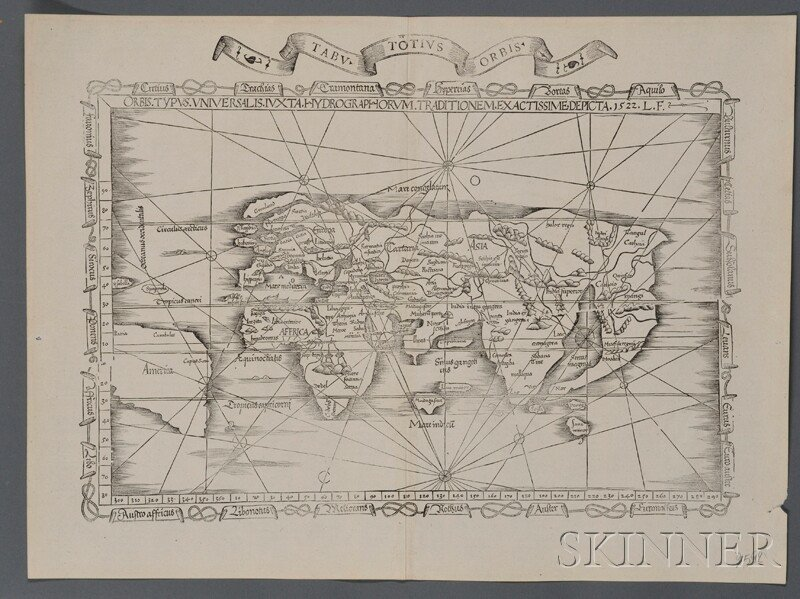 843: (Maps and Charts, World Projection), Waldseemuelle