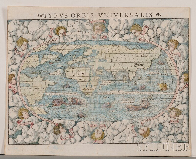 846: (Maps and Charts, World Projection) Muenster, Seba
