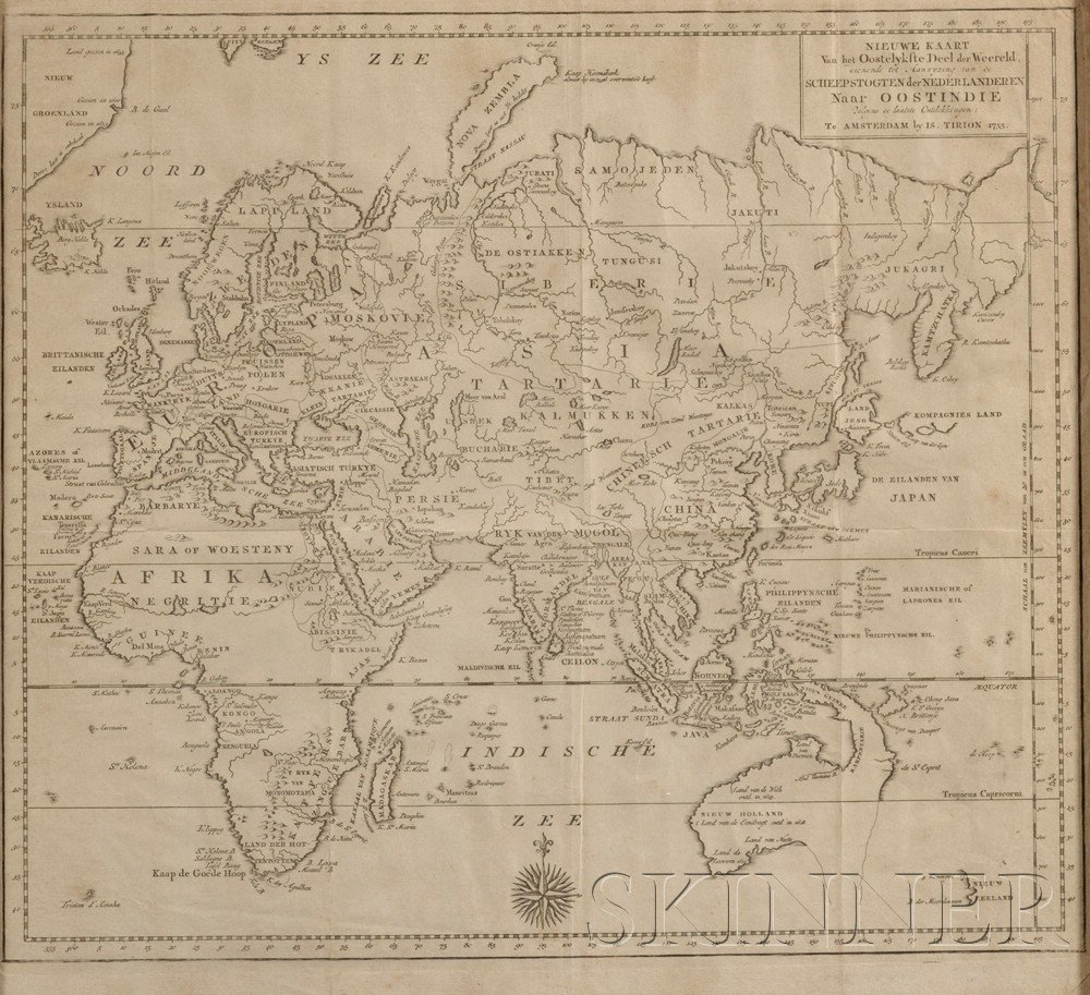 898: (Maps and Charts, World Projection), Two maps: Tir