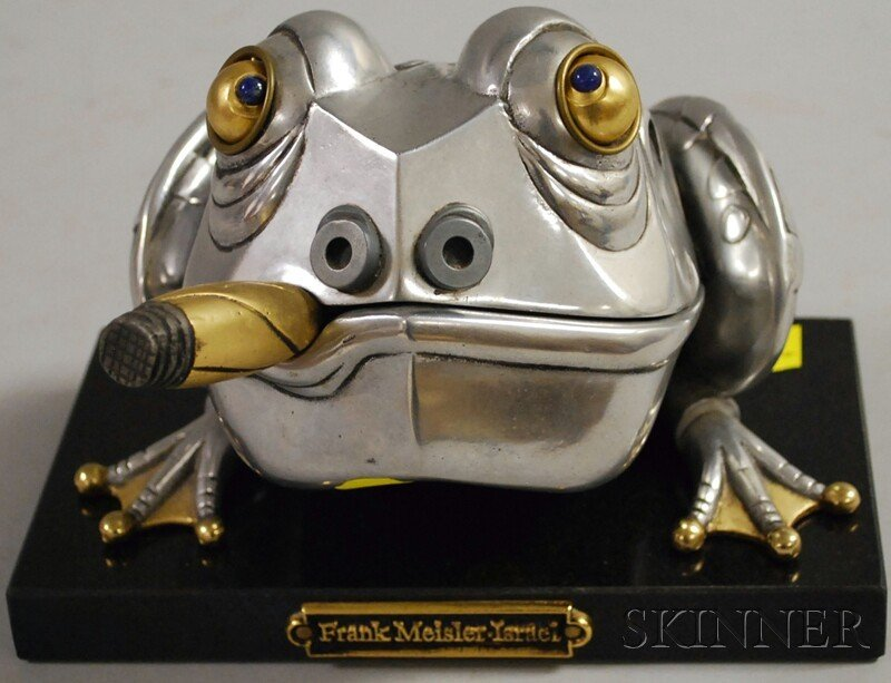 21: Frank Meisler (Israeli, b. 1929) Frog Box. Incised