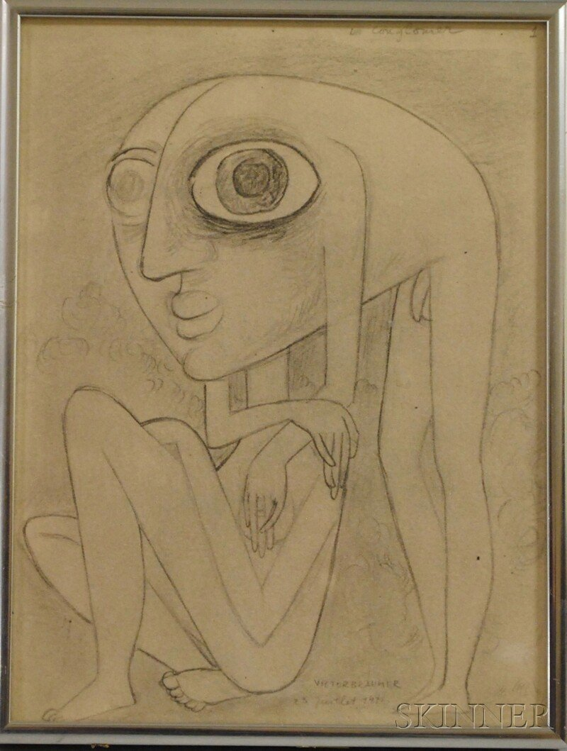 92A: After Victor Brauner (Romanian/French, 1903-1966)