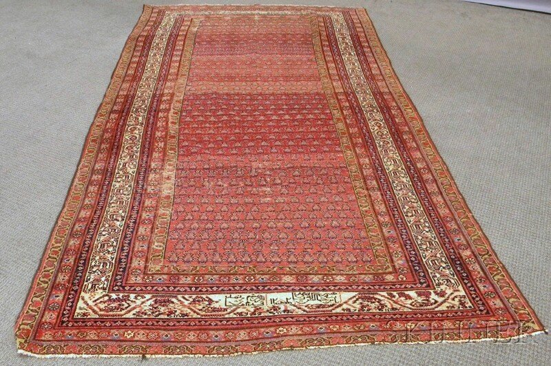 503: Seraband Long Rug, Northwest Persia, 19th century,
