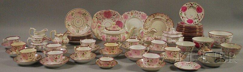 516: Pink Lustre-decorated Teaware, England, 19th centu
