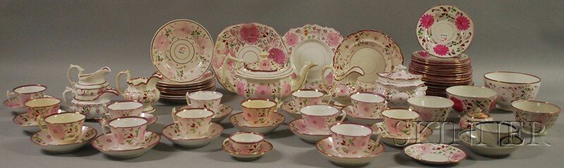 516: Pink Lustre-decorated Teaware, England, 19th centu