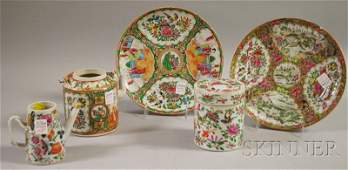 852 Five Chinese Export Porcelain Table Items includi