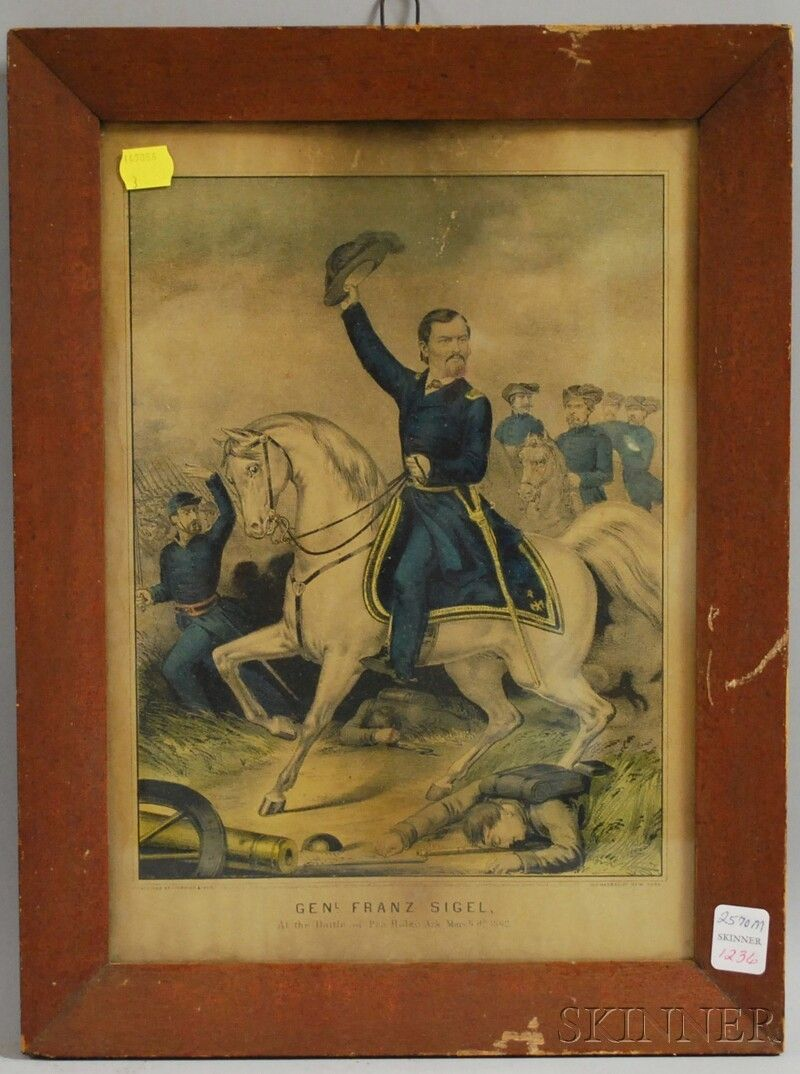 1236: Currier & Ives Small Folio Hand-colored Lithograp