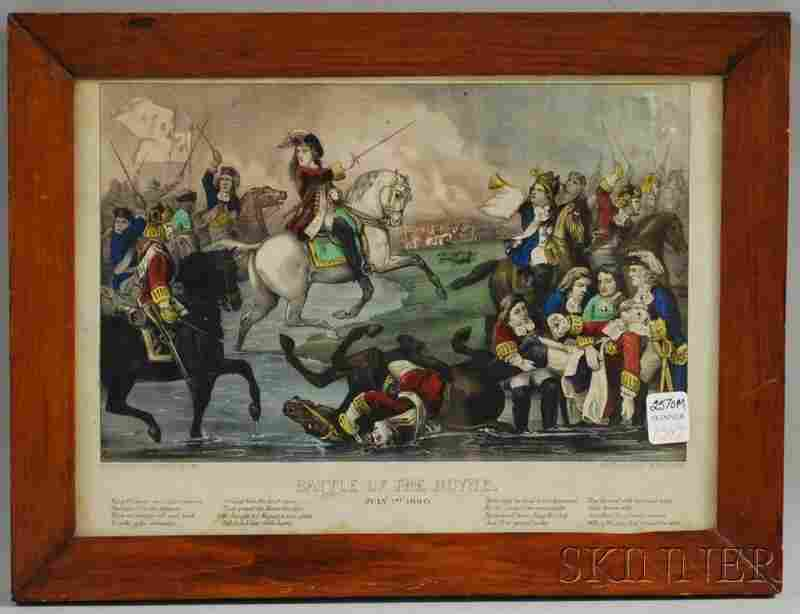1347: Framed Currier & Ives Small Folio Hand-colored Li