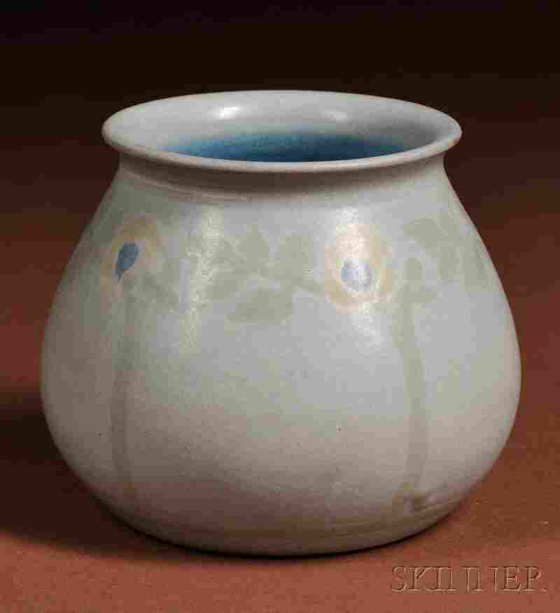 Marblehead Pottery Decorated Four-color Vase Decorated