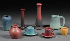 Eight Pieces of Arts & Crafts Pottery Art pottery Unite