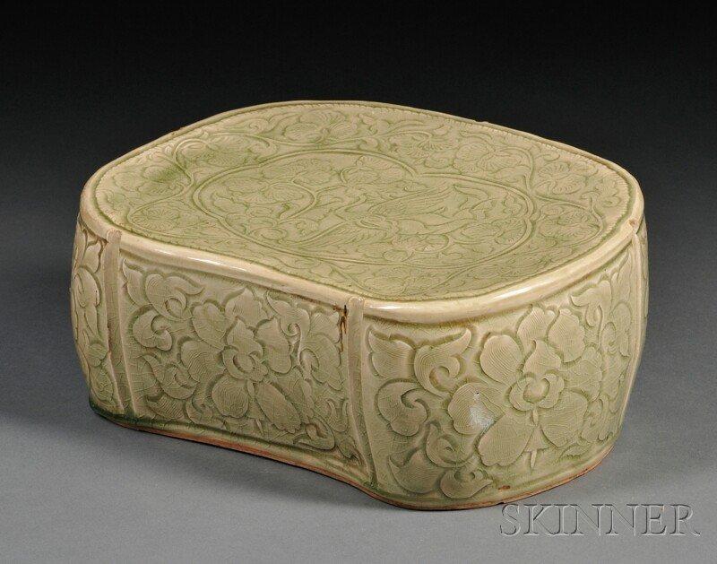 554: Stoneware Pillow, China, possibly northern Sung pe