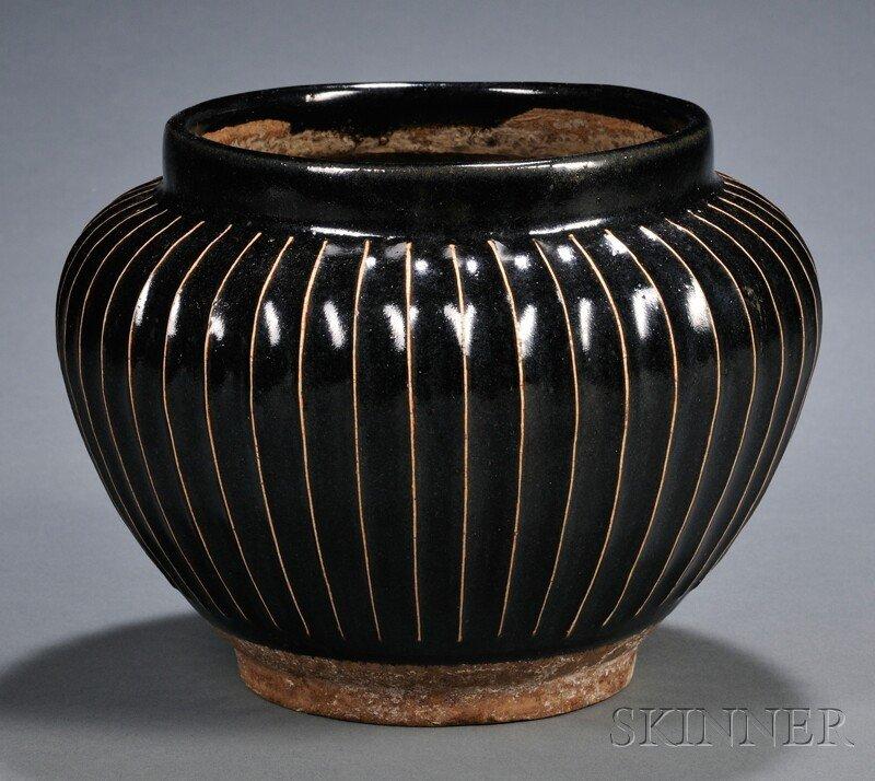 557: Stoneware Jar, China, possibly northern Sung perio