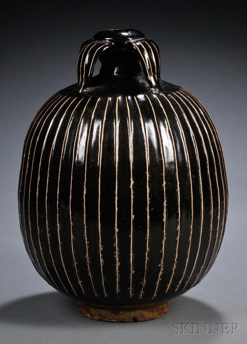 558: Stoneware Wine Jar, China, possibly northern Sung
