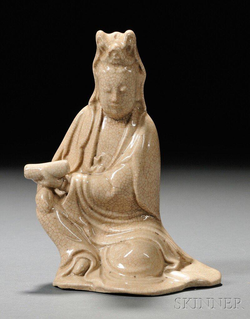560A: Figure of Kuan Yin, China, 19th century, seated a