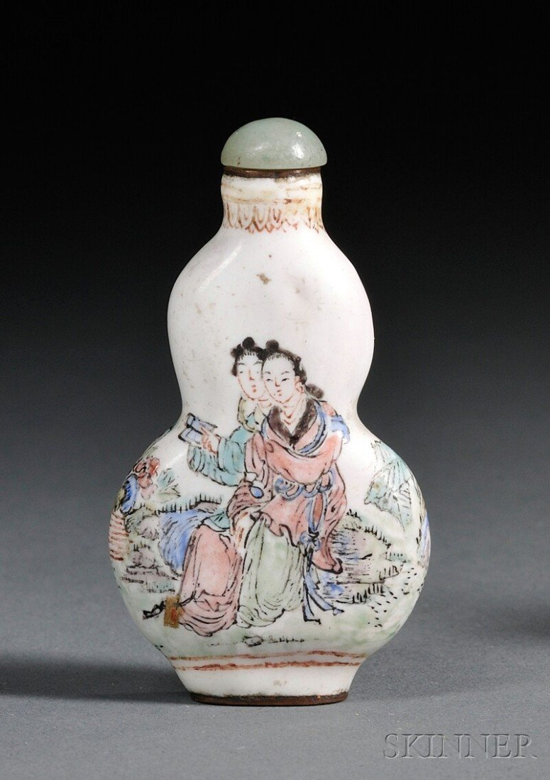 1113: Enameled Snuff Bottle China, late 19th century, d