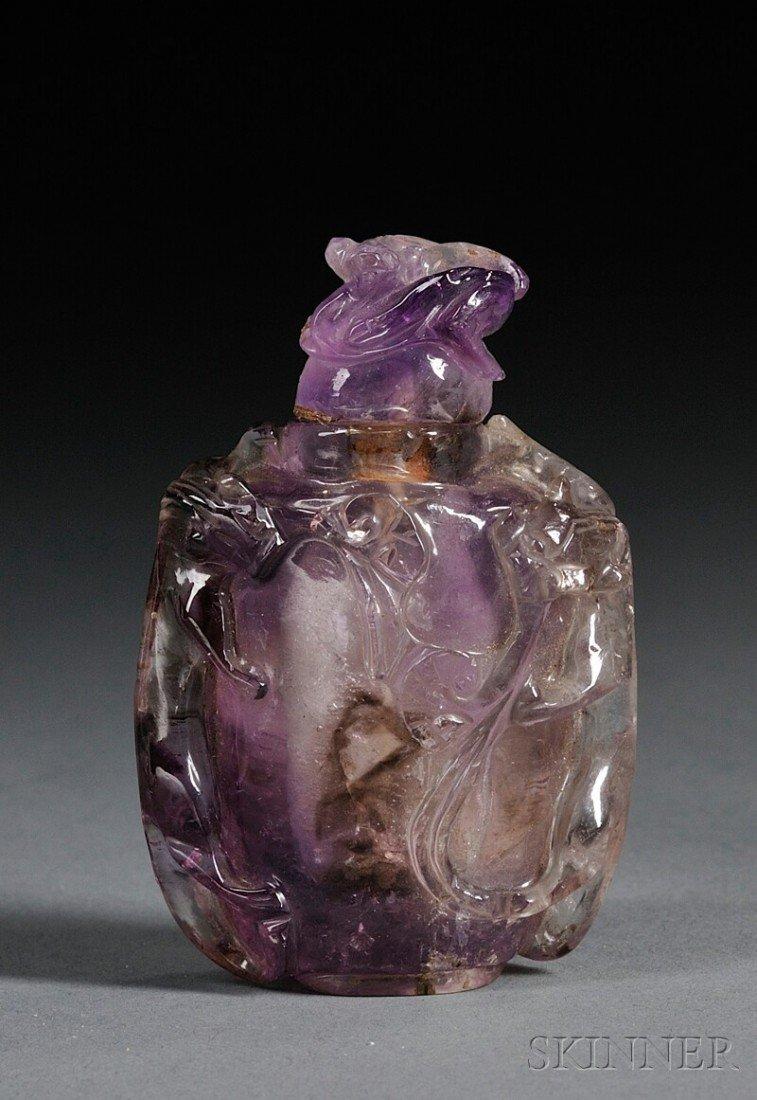 1114: Amethyst Snuff Bottle, China, 19th century, the b