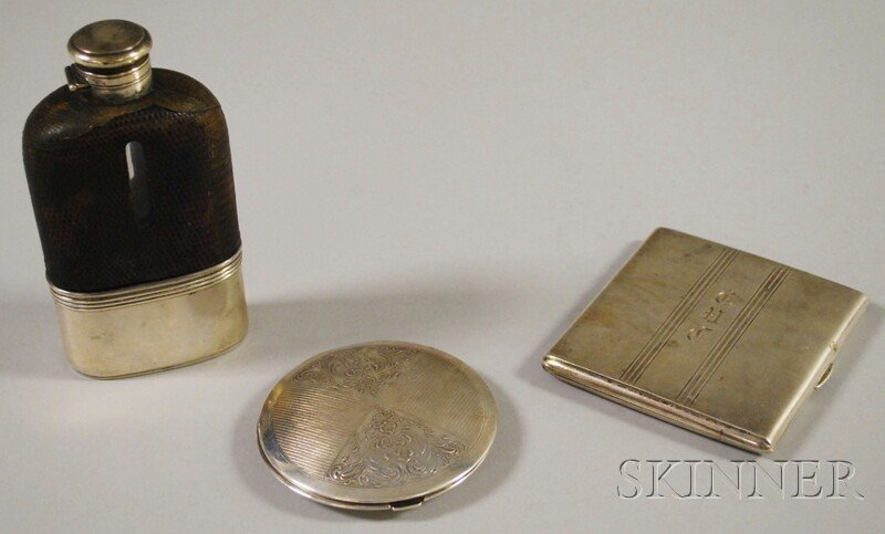 3: Three Sterling Silver Personal Items, a round Birks