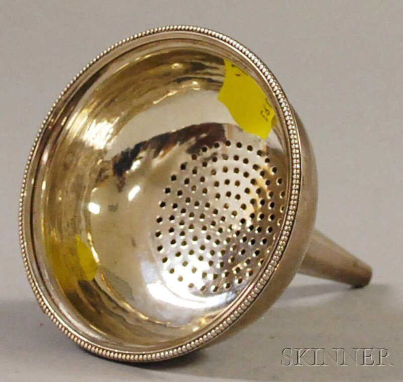 13: Hester Bateman English Sterling Silver Wine Funnel,