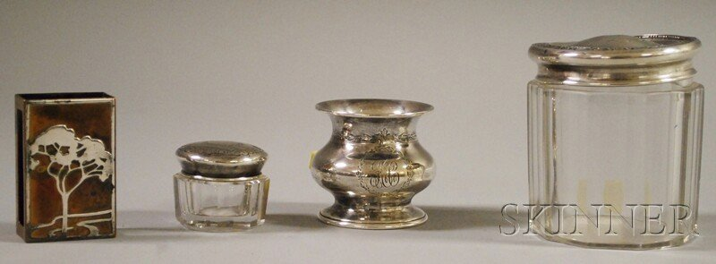 19: Four Sterling Silver and Silver-mounted Articles, a