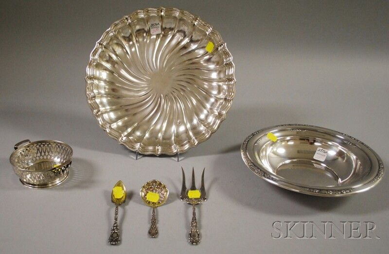 Six Assorted Sterling Silver Items, three flatware