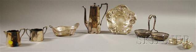 37: Group of Silver and Silver-plated Tableware, a thre