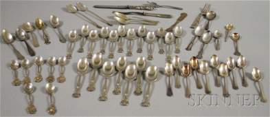 86: Group of Assorted Mostly Sterling Silver Flatware,