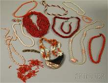 209 Group of Mostly Coral Jewelry including several m