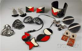 248 Group of Art Deco Revival and Designer Jewelry Ite