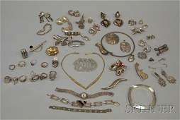 294: Large Group of Mostly Sterling Silver Jewelry, inc